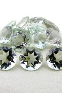 20mm Natural Green Amethyst Faceted Cut Round 1 Piece Green Color Top Quality Loose Gemstone