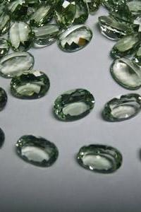 12x10mm Natural Green Amethyst Faceted Cut Oval 25 Pieces Lot Green Color Top Quality Loose Gemstone