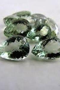 18x13mm Natural Green Amethyst Faceted Cut Pear 25 Pieces Lot Green Color Top Quality Loose Gemstone