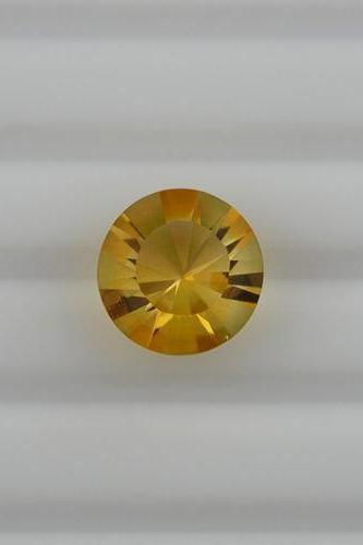 9mm Natural Citrine Concave Cut Round 2 Pieces (1 Pair) Calibrated Size Top Quality yellow Color Loose Gemstone