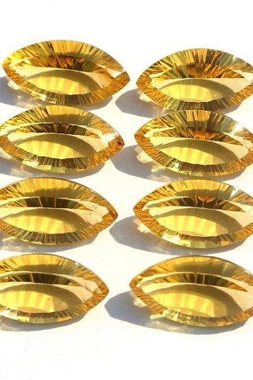 14x7mm Natural Citrine Concave Cut Marquise 5 Pieces Lot Calibrated Size Top Quality yellow Color Loose Gemstone