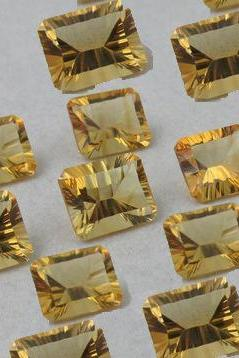 10x8mm Natural Citrine Concave Cut Octagon 2 Piece (1 Pair) Calibrated Size Top Quality yellow Color Loose Gemstone