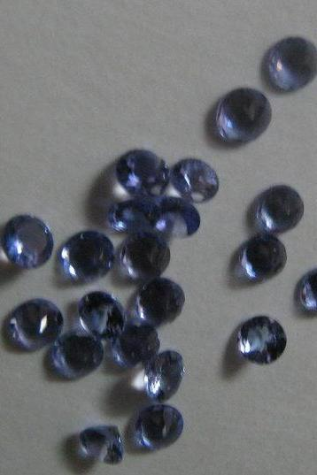 Natural Tanzanite 4mm 100 Pieces Lot Faceted Cut Round Top Quality A Color - Loose Gemstone