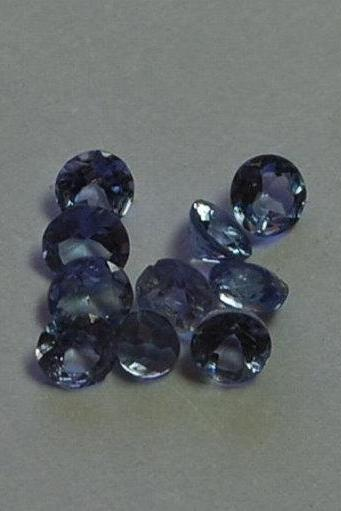Natural Tanzanite 7mm 10 Pieces Lot Faceted Cut Round Top Quality A Color - Loose Gemstone