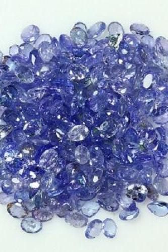 Natural Tanzanite 7x5mm 5 Pieces Lot Faceted Cut Oval Top Quality A Color - Loose Gemstone
