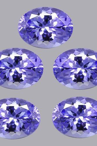 Natural Tanzanite 7x9mm 10 Pieces Lot Faceted Cut Oval Top Quality A Color - Loose Gemstone