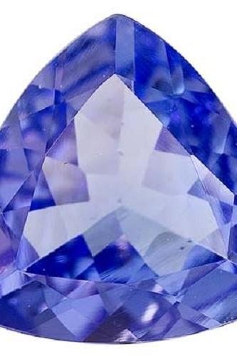 Natural Tanzanite 8mm 1 Pieces Faceted Cut Trillion Top Quality AA Color - Loose Gemstone