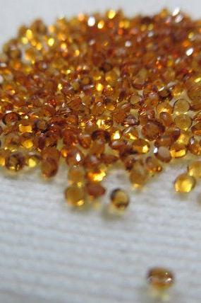 Natural Citrine - 2 mm 25 Pieces Lot Calibrated Size Faceted Cut Round Yellow Color - Natural Loose Gemstone