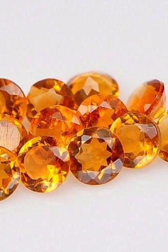 Natural Citrine - 6mm 50 Pieces Lot Calibrated Size Faceted Cut Round Yellow Color - Natural Loose Gemstone