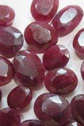 Natural Ruby 4x3mm 50 Pieces Lot Faceted Cut Oval Red Pink Color Top Quality Loose Gemstone