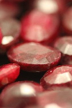 Natural Ruby 8x10mm 10 Pieces Lot Faceted Cut Oval Red Pink Color Top Quality Loose Gemstone