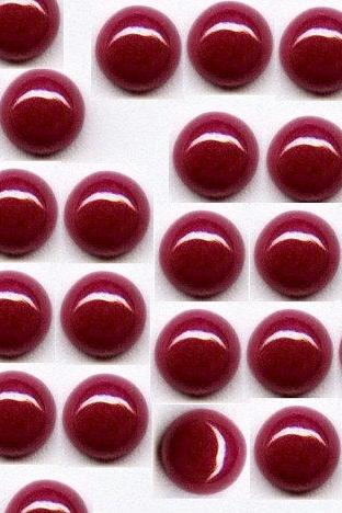 Natural Ruby 10mm 25 Pieces Lot Cabochon Round Red Pink Color Top Quality Loose Gemstone