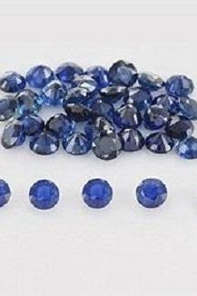 Natural Blue Sapphire 6mm 25 Pieces Lot Faceted Cut Round Blue Color Top Quality Loose Gemstone