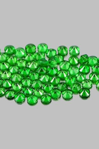 Natural Tsavorite 3.5mm 25 Pieces Lot Faceted Cut Round Green Color Top Quality Loose Gemstone