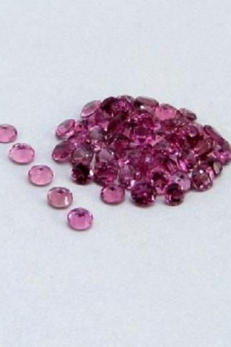 Natural Pink Tourmaline 4mm 25 Pieces Lot Faceted Cut Round Pink Color Top Quality Loose Gemstone