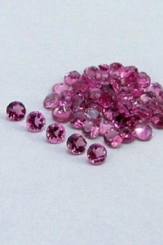 Natural Pink Tourmaline 6mm 50 Pieces Lot Faceted Cut Round Pink Color Top Quality Loose Gemstone