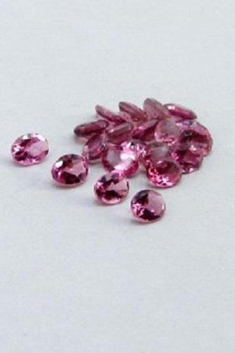 Natural Pink Tourmaline 4x3mm 50 Pieces Lot Faceted Cut Oval Pink Color Top Quality Loose Gemstone