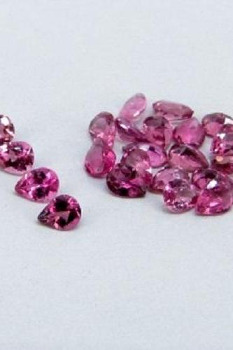 Natural Pink Tourmaline 4x3mm 25 Pieces Lot Faceted Cut Pear Pink Color Top Quality Loose Gemstone