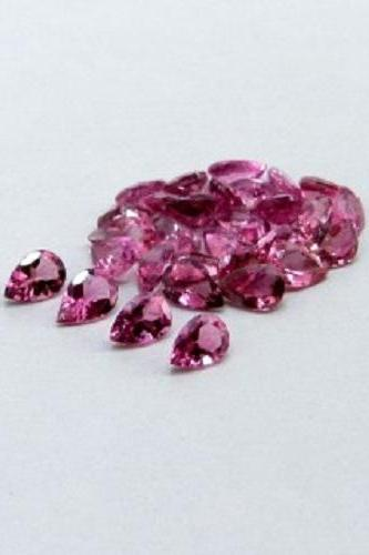 Natural Pink Tourmaline 5x4mm 100 Pieces Lot Faceted Cut Pear Pink Color Top Quality Loose Gemstone