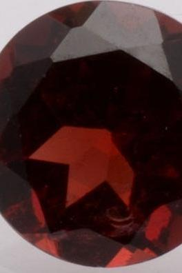 Natural Red Garnet 8mm 1 Pieces Faceted Cut Round Red Color Top Quality Loose Gemstone