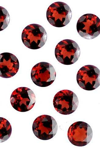 Natural Red Garnet 10mm 10 Pieces Lot Faceted Cut Round Red Color Top Quality Loose Gemstone