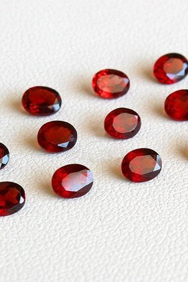 Natural Red Garnet 5x3mm 50 Pieces Lot Faceted Cut Oval Red Color Top Quality Loose Gemstone