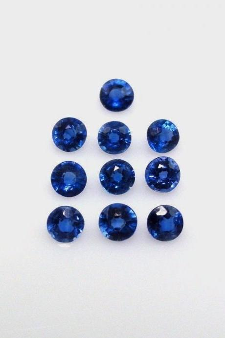 Natural Kyanite 4mm 50 Pieces Lot Faceted Cut Round Blue Color Top Quality Loose Gemstone