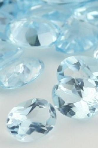 Natural Sky Blue Topaz 7x5mm 100 Pieces Lot Faceted Cut Oval Blue Color - Natural Loose Gemstone