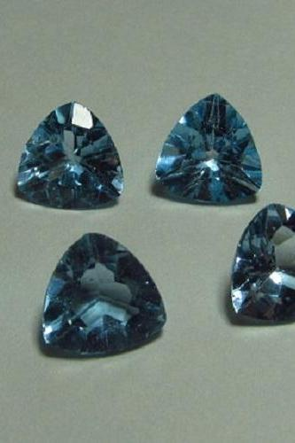 Natural Sky Blue Topaz 7mm 25 Pieces Lot Faceted Cut Trillion Blue Color - Natural Loose Gemstone