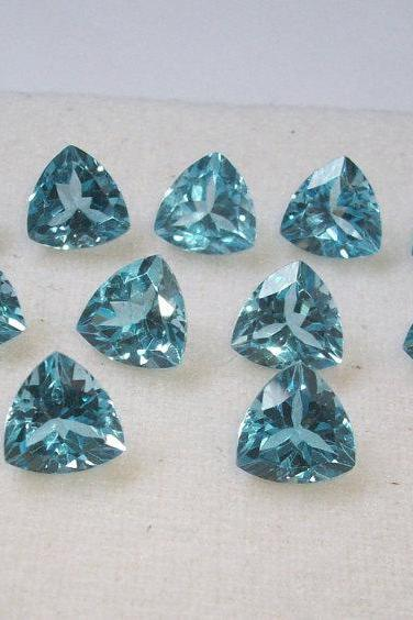 Natural Sky Blue Topaz 8mm 5 Pieces Lot Faceted Cut Trillion Blue Color - Natural Loose Gemstone