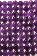 Natural Amethyst - 7mm 50 Pieces Lot Cabochon Round Calibrated Size Purple Color - Loose Gemstone