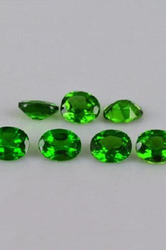 Natural Chrome Diopside 3x4mm 5 Pieces Lot Faceted Cut Round Green Color - Natural Loose Gemstone