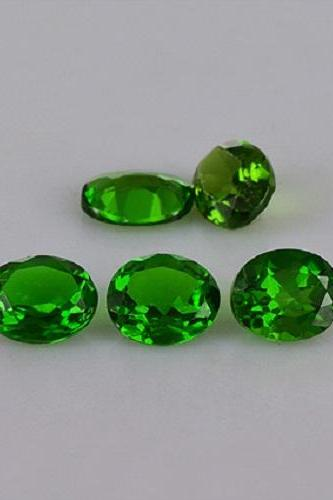Natural Chrome Diopside 3x5mm 10 Pieces Lot Faceted Cut Round Green Color - Natural Loose Gemstone