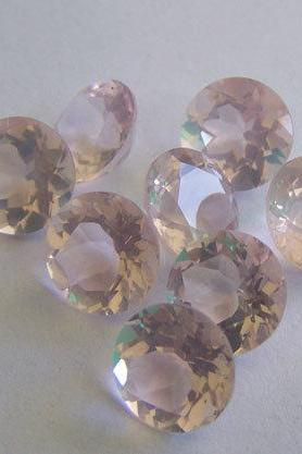 Natural Rose Quartz - 9mm 5 Pieces Lot Faceted Cut Round Pink Color - Natural Loose Gemstone