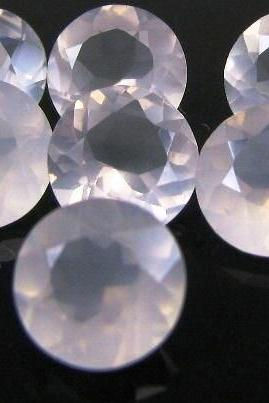 Natural Rose Quartz - 12mm 10 Pieces Lot Faceted Cut Round Pink Color - Natural Loose Gemstone