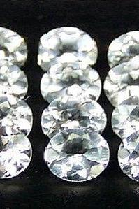 Natural White Topaz Calibrated Size 9x7mm 100 Pieces Lot Faceted Cut Oval Natural - Loose Gemstone