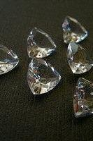 Natural White Topaz 4mm 50 Pieces Lot Faceted Cut Trillion Top Quality White Color Natural - Loose Gemstone