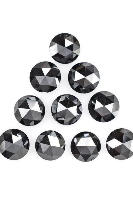 5mm Natural Black Diamond - Rose Cut Round 1 Piece Top Quality Black Color - Loose Gemstone Wholesale Lot For Sale