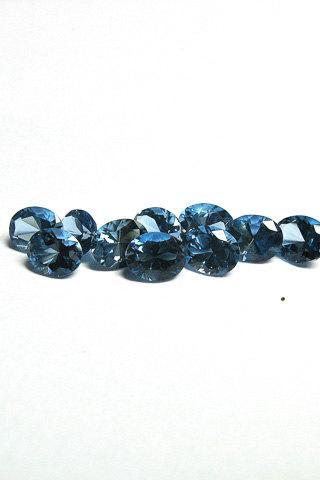 7x9mm Natural London Blue Topaz Faceted Cut Oval 10 Pieces Top Quality Blue Color - Loose Gemstone Wholesale Lot For Sale