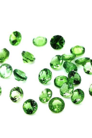 Natural Tsavorite 5mm 1 Piece Faceted Cut Round AAA Green Color Top Quality Loose Gemstone