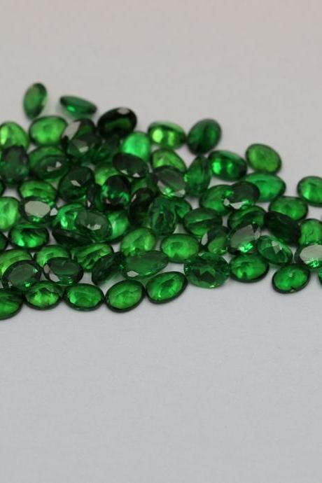 Natural Tsavorite 7x5mm 1 Piece Faceted Cut Oval AAA Green Color Top Quality Loose Gemstone
