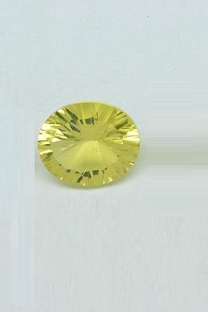 Natural Lemon Quartz 10x14mm Oval Concavre Cut 1 Pieces Yellow Color - Natural Loose Gemstone