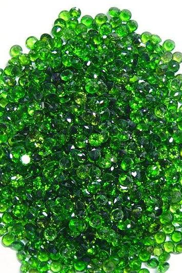 Natural Chrome Diopside- 2mm 100 Pieces Lot Faceted Round Calibrated Size Green Color - Loose Gemstone