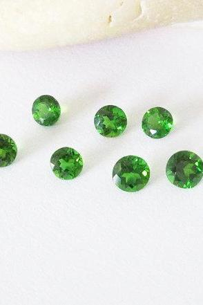 Natural Chrome Diopside- 2.5mm 100 Pieces Lot Faceted Round Calibrated Size Green Color - Loose Gemstone