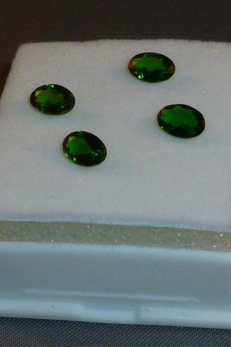 Natural Chrome Diopside- 3x5mm 2 Pieces Lot Faceted Oval Calibrated Size Green Color - Loose Gemstone