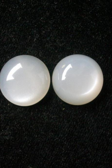 10mm Natural White Moonstone Cabochon Round 2 Pieces Lot Top Quality White Color Loose Gemstone Wholesale Lot For Sale