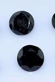 7mm Natural Black Spinel Faceted Cut Round 25 Pieces Lot Top Quality Black Color Loose Gemstone Wholesale Lot For Sale