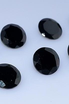 10mm Natural Black Spinel Faceted Cut Round 50 Pieces Lot Top Quality Black Color Loose Gemstone Wholesale Lot For Sale