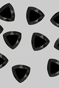 12mm Natural Black Spinel Faceted Cut Trillion 50 Pieces Lot Top Quality Black Color Loose Gemstone Wholesale Lot For Sale