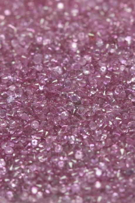 Natural Pink sapphire 1.3mm 100 Pieces Lot Faceted Cut Round Pink Color Top Quality Loose Gemstone